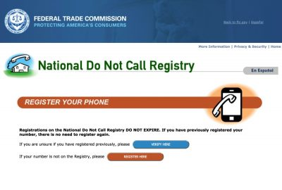 National Do Not Call Registryやり方