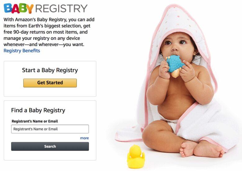 amazon ベビーレジストリの登録方法