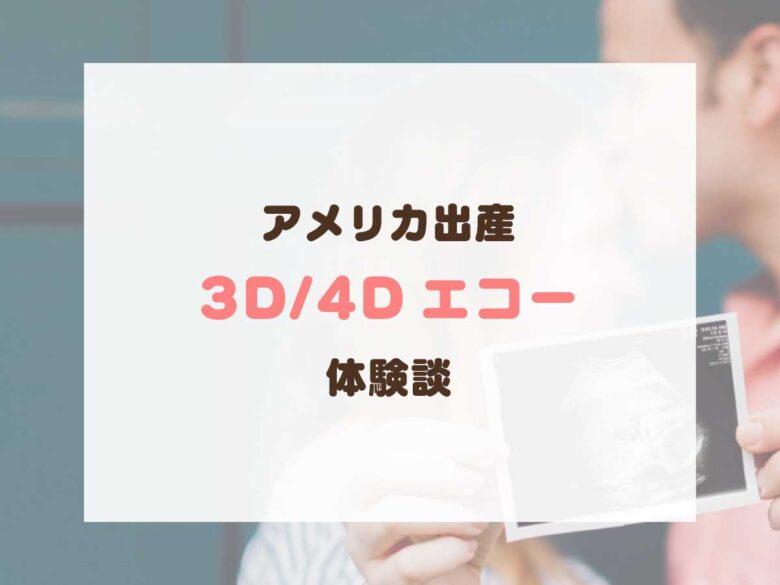 アメリカで3D・4Dエコー(ウルトラサウンド)体験談!数少ない、子供の顔を見れるチャンス&ベストタイミング