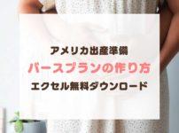 【アメリカ出産準備】伝わるバースプランの作り方!エクセルテンプレート無料ダウンロード