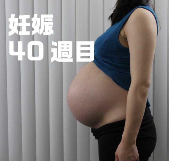 妊娠40週目お腹の大きさ