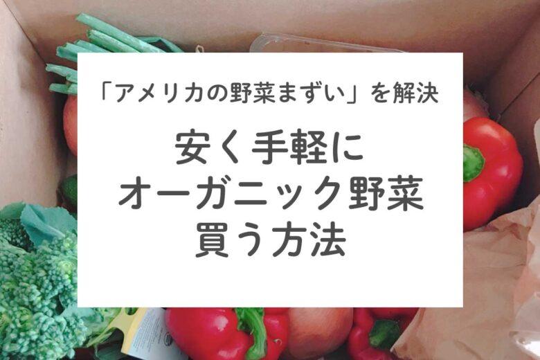 アメリカの野菜まずいを解決!安くオーガニックの野菜を購入する方法