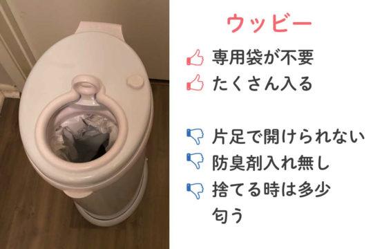 おすすめのおむつ用ゴミ箱!ウッビーとダイパージーニーを実際に使って比べてみました!アメリカ出産